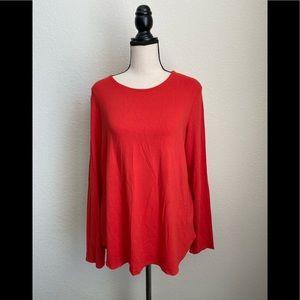 Eileen Fisher Long Sleeve Shirt in Orange